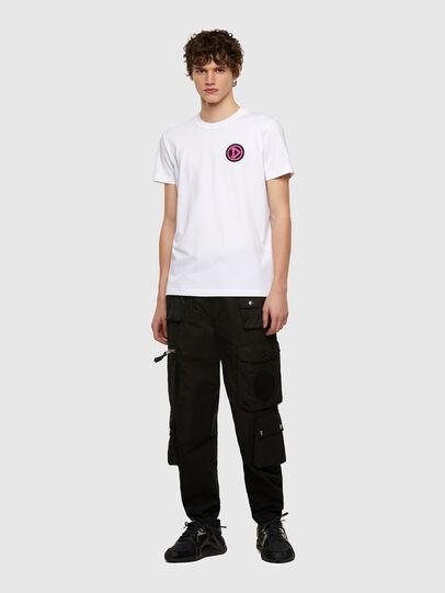 Diesel - T-DIEBIND-E1, Blanco - Camisetas - Image 4