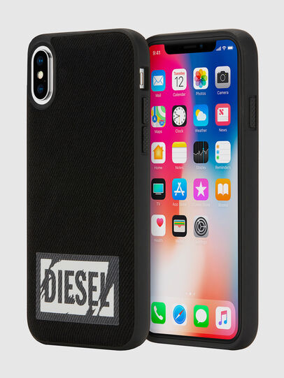Diesel - BLACK DENIM IPHONE X CASE, Negro - Fundas - Image 1