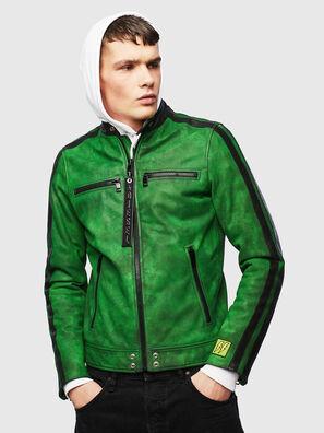 L-BOY-A, Verde - Chaquetas de piel