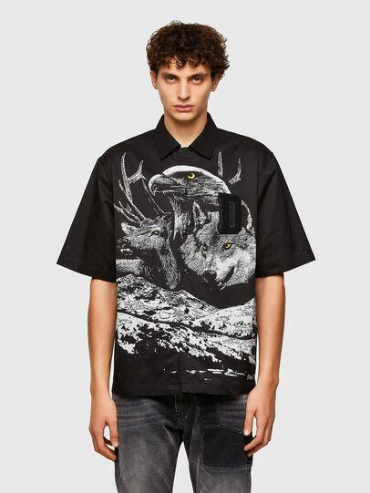 Diesel - S-WOLF, Negro - Camisas - Image 1