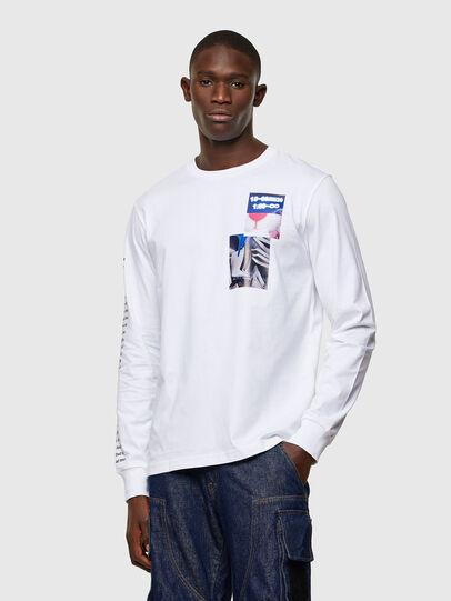 Diesel - T-JUST-LS-A10, Blanco - Camisetas - Image 1