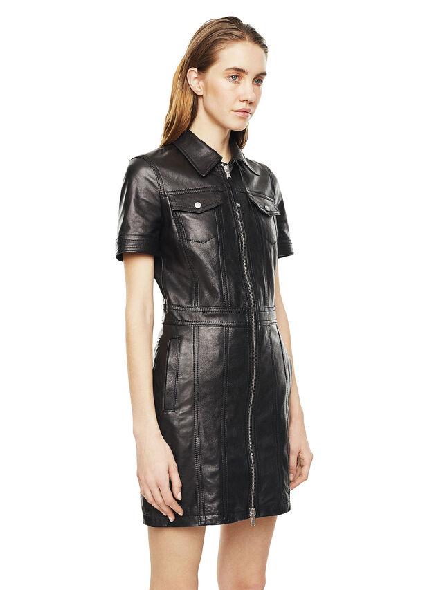Diesel - DAFFIE, Piel Negra - Vestidos en piel - Image 5
