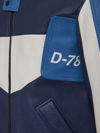 Diesel - L-MAY, Azul marino/Blanco - Chaquetas de piel - Image 6