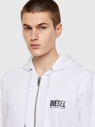 Diesel - S-GIRK-HOOD-ZIP-ECOL, Blanco - Sudaderas - Image 3