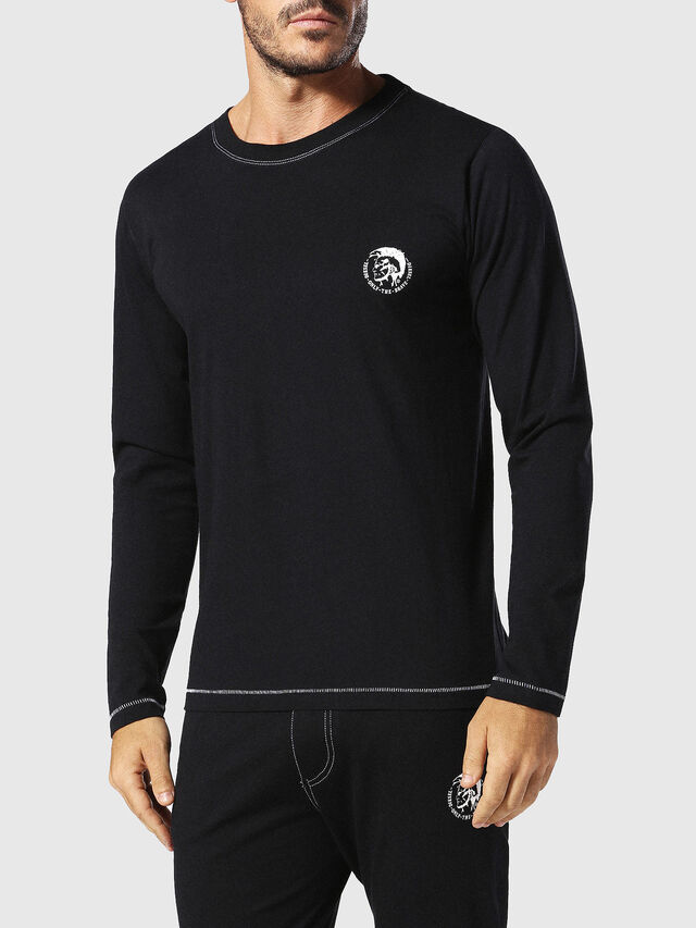 Diesel - UMLT-JUSTIN, Negro - Camisetas - Image 1