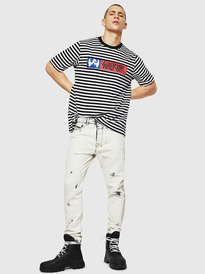 Diesel - T-VIKTOR, Negro/Blanco - Camisetas - Image 5