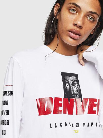 Diesel - LCP-T-JUST-LS-DENVER, Blanco - Camisetas - Image 5