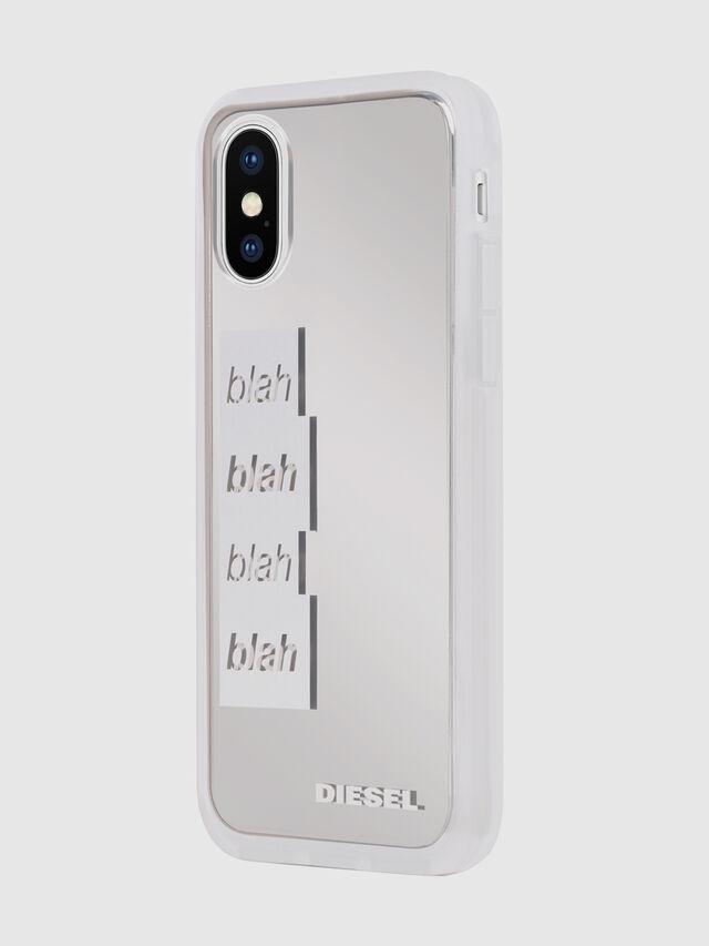 BLAH BLAH BLAH IPHONE X CASE, Blanco/Plateado