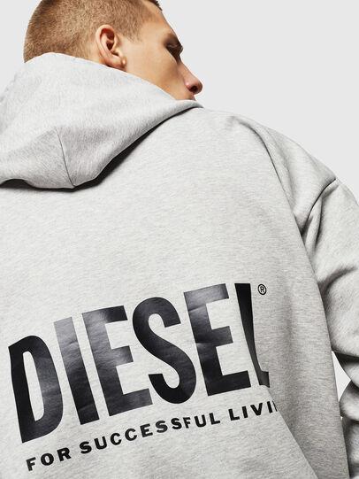 Diesel - LR-S-GIRK-HOOD-VIC, Gris - Sudaderas - Image 5