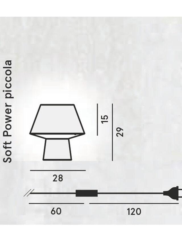 Diesel - SOFT POWER PICCOLA, Negro - Lámparas de Sombremesa - Image 2