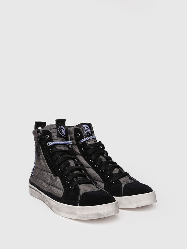 Diesel - D-VELOWS MID PATCH, Gris/Negro - Sneakers - Image 3