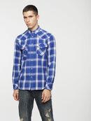 S-EAST-LONG-C, Azul/Blanco - Camisas