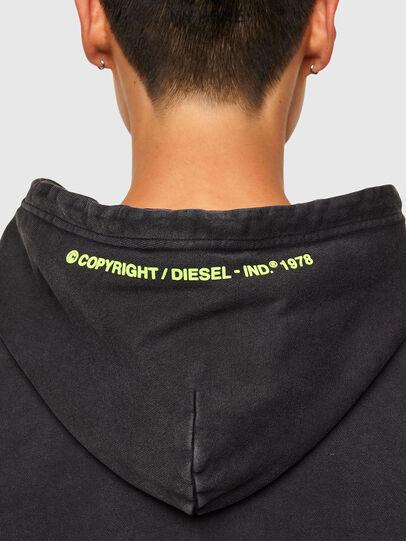 Diesel - S-GIRRIB-HOOD-A71, Negro - Sudaderas - Image 4