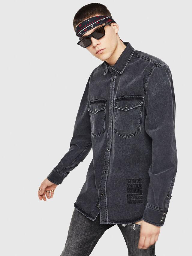 3ef10c1c63 D-ROOKE-L Hombre  Camisa de estilo tejano en denim