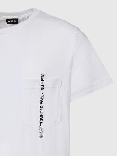 Diesel - T-RUBIN-POCKET-J1, Blanco - Camisetas - Image 3
