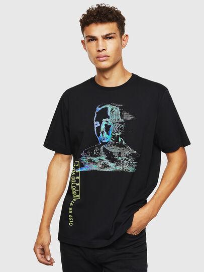 Diesel - T-JUST-J12, Negro - Camisetas - Image 1