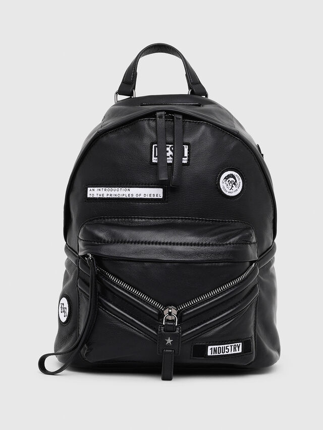 Diesel - LE-ZIPPER BACKPACK, Negro - Mochilas - Image 1