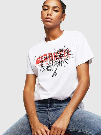 Diesel - T-DARIA-YC, Blanco - Camisetas - Image 4
