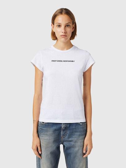 Diesel - T-SLICUP-B3, Blanco - Camisetas - Image 1