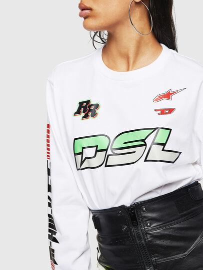 Diesel - ASTARS-T-JUST-LONG-F, Blanco - Camisetas - Image 6