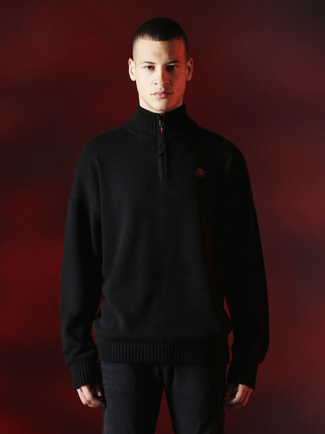 Diesel - DVL-KNIT-SPECIAL COLLECTION, Negro - Punto - Image 1