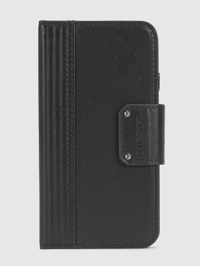 Diesel - BLACK LINED LEATHER IPHONE 8/7 FOLIO, Negro - Fundas tipo libro - Image 3