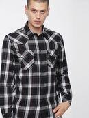 S-EAST-LONG-C, Negro/Blanco - Camisas