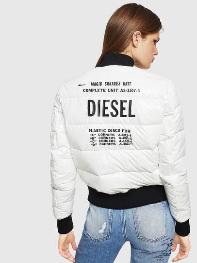 Diesel - W-ONY, Blanco - Chaquetones de invierno - Image 2