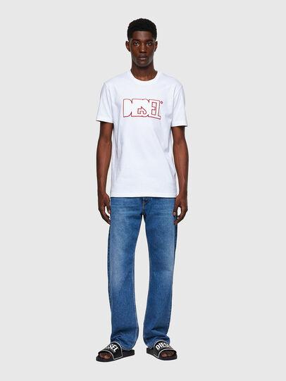 Diesel - T-DIEGOS-B8, Rojo/Blanco - Camisetas - Image 4