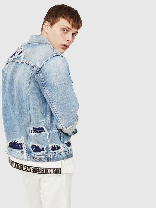 Diesel - NHILL-TM, Blue Jeans - Chaquetas de denim - Image 4