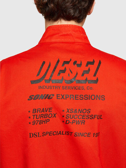 Diesel - J-HALLS-PRINT, Naranja - Chaquetas - Image 4