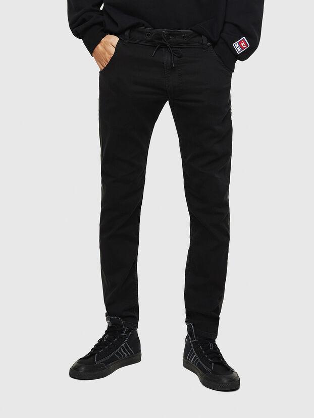 Krooley JoggJeans 069JH, Negro/Gris oscuro - Vaqueros