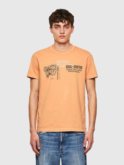 Diesel - T-DIEBIND-B1, Naranja - Camisetas - Image 1