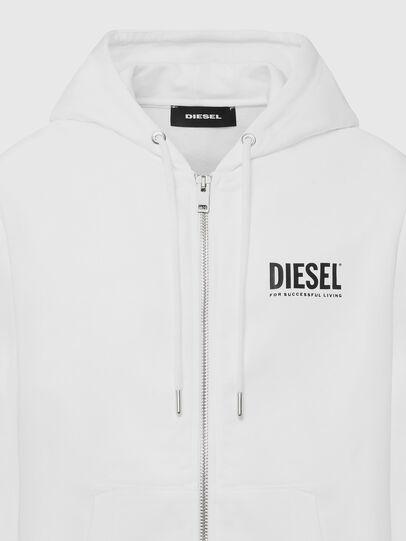 Diesel - S-GIRK-HOOD-ZIP-LOGO, Blanco - Sudaderas - Image 3