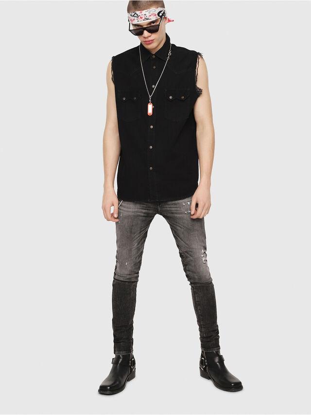 Diesel - D-KIRU, Negro - Camisas de Denim - Image 4