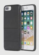 BLACK LINED LEATHER IPHONE 8 PLUS/7 PLUS/6s PLUS/6 PLUS CASE, Negro - Fundas