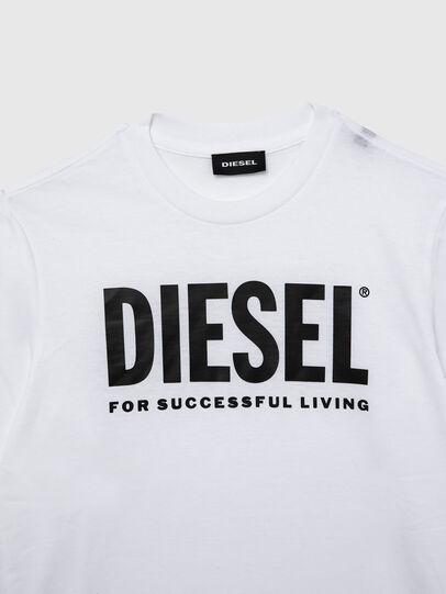 Diesel - TJUSTLOGO ML, Blanco - Camisetas y Tops - Image 3