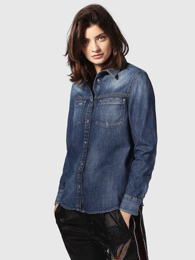 Diesel - DE-KERI, Blue Jeans - Camisas de Denim - Image 2