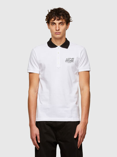 Diesel - T-RANDY-NEW-A1, Blanco - Polos - Image 1
