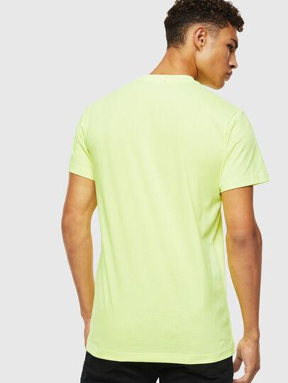 Diesel - T-DIEGO-J4, Amarillo Fluo - Camisetas - Image 3
