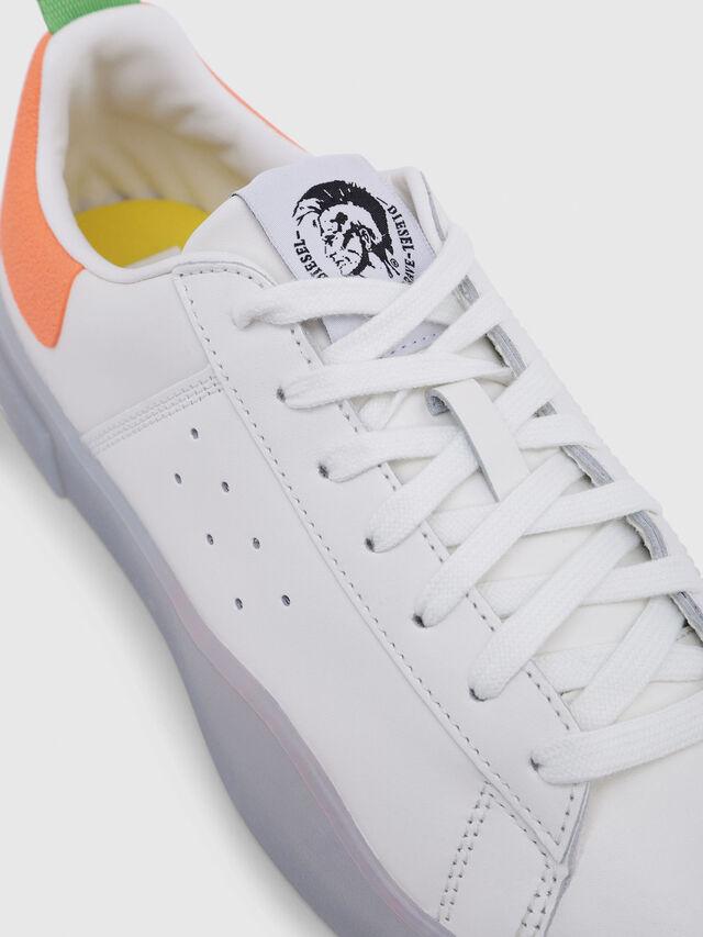 Diesel - S-CLEVER LOW, Blanco/Naranja - Sneakers - Image 4