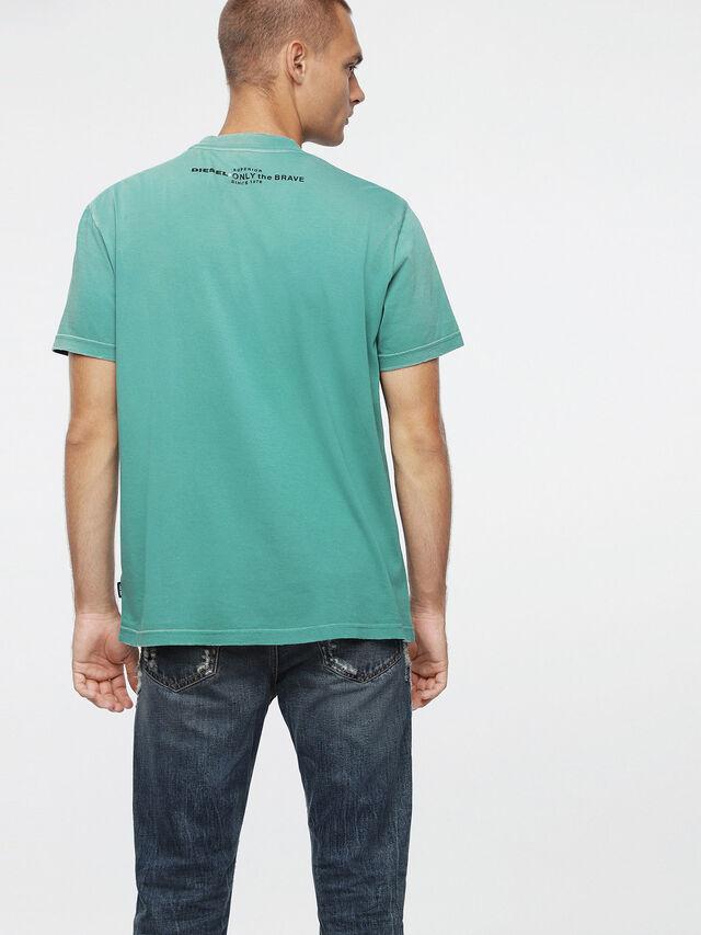 Diesel - T-JOEY-T, Verde Agua - Camisetas - Image 2
