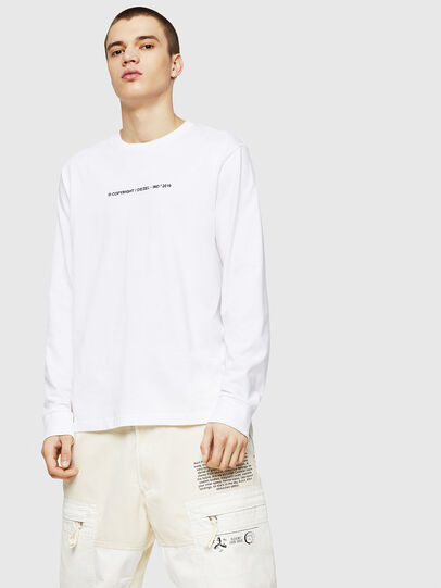 Diesel - T-JUST-LS-COPY, Blanco - Camisetas - Image 1