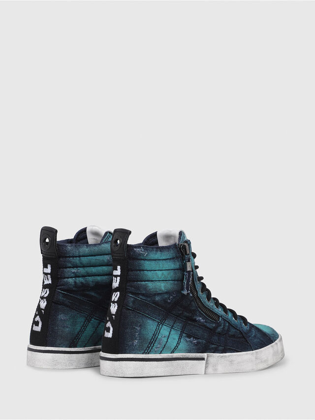 Diesel - D-VELOWS MID LACE, Azul Turquesa - Sneakers - Image 3