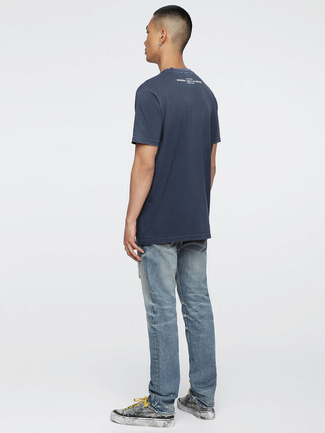 Diesel - T-KEITHS, Azul - Camisetas - Image 4