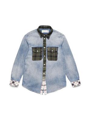 D-DEEPCHECK-A, Azul Claro - Camisas de Denim