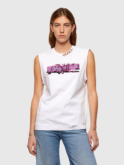 Diesel - T-BULL, Blanco - Camisetas - Image 1