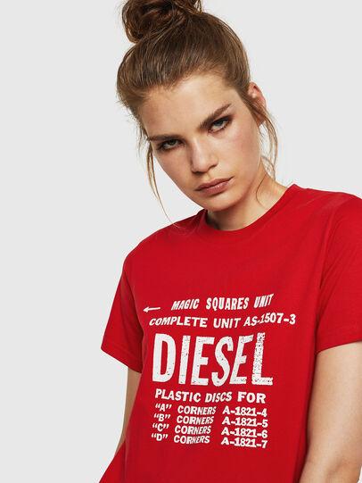 Diesel - T-SILY-ZF, Rojo Fuego - Camisetas - Image 3