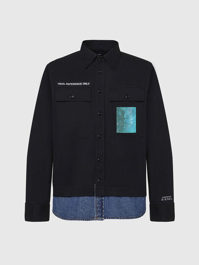 Diesel - S-DUSTIN, Negro - Camisas - Image 1