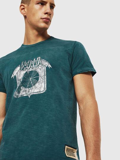 Diesel - T-DIEGO-CUT-AC, Azul Marino - Camisetas - Image 4